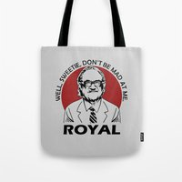tenenbaum Tote Bags featuring Royal Tenenbaum quotes by Buby87