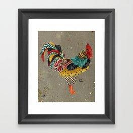 Rooster Mardi Framed Art Print