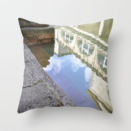 Roman Baths Reflection Throw Pillow