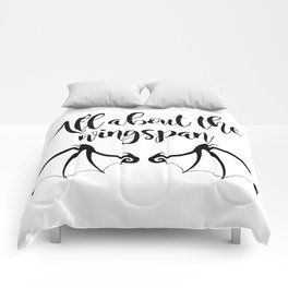 All about the wingspan white design Comforters