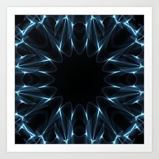 Kaleidoscope in Blue Art Print
