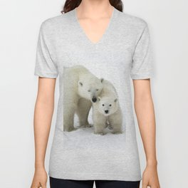Mother and Cub Unisex V-Neck