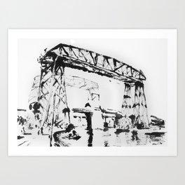 Puente en la Boca Art Print