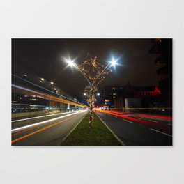 Long Nights Bright City Lights Canvas Print
