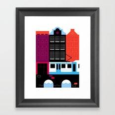 Postcards from Amsterdam / Tram Framed Art Print
