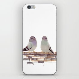 Pigeons in love iPhone Skin