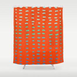 Fiesta at Festival - Orange Shower Curtain