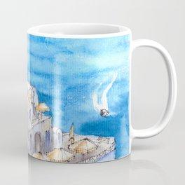 Greece ink & watercolor illustration Coffee Mug