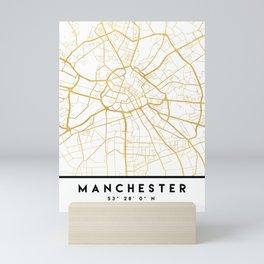 MANCHESTER ENGLAND CITY STREET MAP ART Mini Art Print
