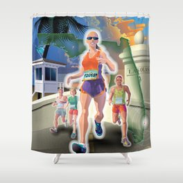 Fort Lauderdale A1A Marathon Shower Curtain