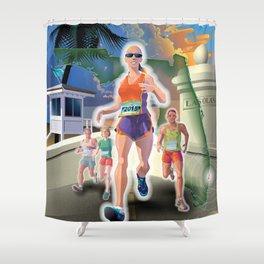 Fort Lauderdale A1A Marathon Shower Curtain