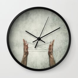 cats cradle Wall Clock