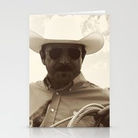 cowboy Stationery Cards featuring Cowboy by DistinctyDesign