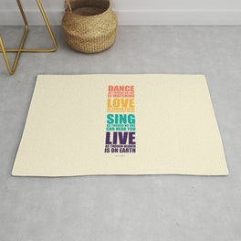 Lab No.4 -Dance As Though No One Is Watching inspirational Quotes poster Rug