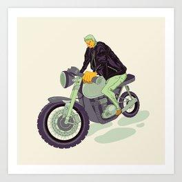 Mullet Biker Art Print