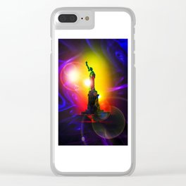 Statue of Liberty  New York 2 Clear iPhone Case