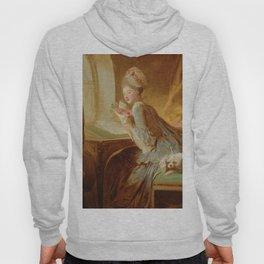 """Jean Honoré Fragonard (1732–1806) """"The Love Letter"""" Hoody"""