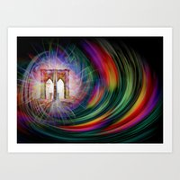Our world is a magic - Time Tunnel 101 Art Print