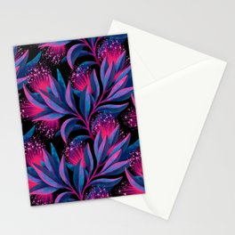 Pohutukawa - Pink / Blue Stationery Cards