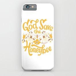 God Save the Honeybee iPhone Case