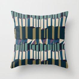 Straight Geometry City 2 Throw Pillow
