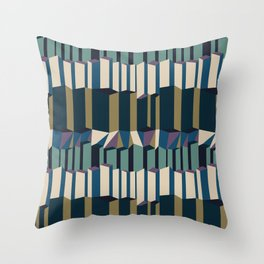 Straight Geometry City 2 Throw Pillow