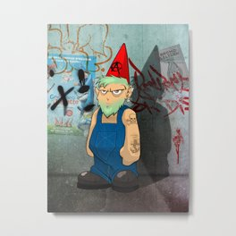 The Urban Gnome Metal Print