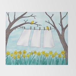spring clean Throw Blanket