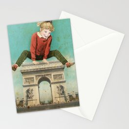 Parisian leapfrog  Stationery Cards
