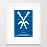 """hot fuzz Framed Art Prints featuring 3 Flavors Trilogy #2 - """"Hot Fuzz"""" by Ghost-Hat Designs"""