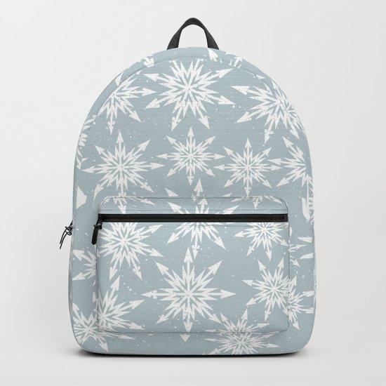 Merry Christmas Wintertime - Snowflakes pattern Backpack
