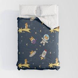 Space corgi pattern Comforters