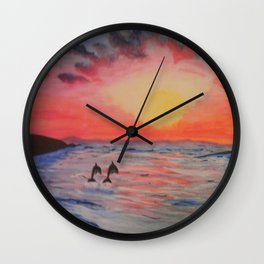 2 Souls Reunited Wall Clock