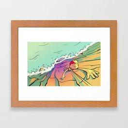 Climb That Mountain Framed Art Print