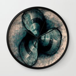 Shells in a row Wall Clock