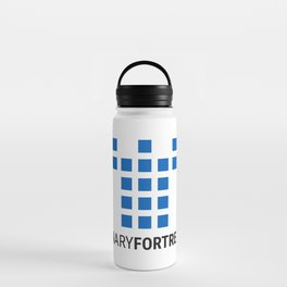 Binary Fortress Software (blue logo) Water Bottle