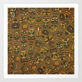 Tiki Masks Art Print