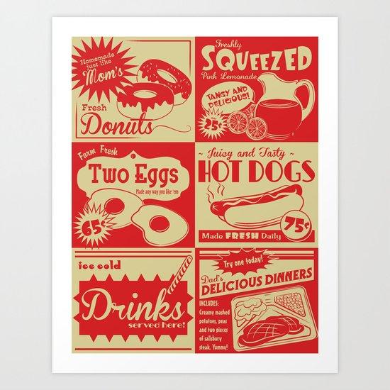 Retro Kitchen Advertising (no. 1) Art Print
