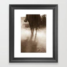 Coyboy Dust Framed Art Print