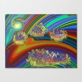 """Colline digitali"" "" Original Digital Art 2014 Canvas Print"