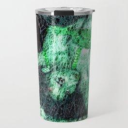 Oriental Beauty in Green Travel Mug