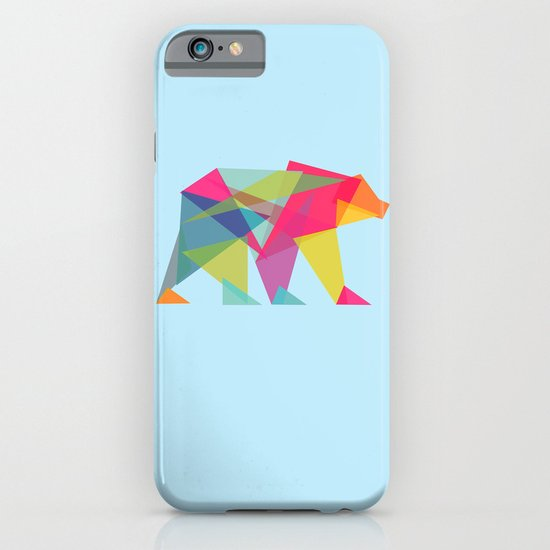 Fractal Bear - neon colorways iPhone & iPod Case