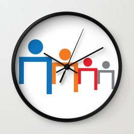 People Head Wall Clock