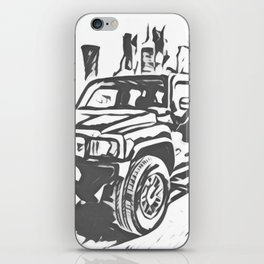 Urban Explorer - Hummer H3 Scetch iPhone Skin