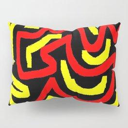 Black yellow red Pillow Sham