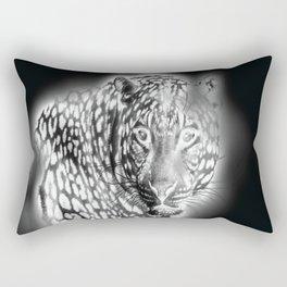 Ghost Leopard Rectangular Pillow