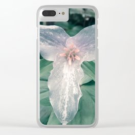 Dirty Pacific Trillium Spring Flower Northwest Oregon Clear iPhone Case