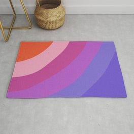 Purple Rainbow Waves Rug