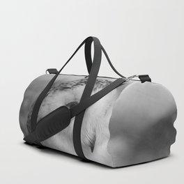 Snowy Owl - B & W Duffle Bag