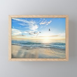 Beach Scene 34 Framed Mini Art Print